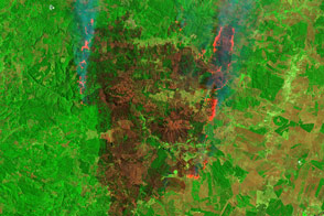 Satellites Capture Different Views of Devastating Fires in Chile - selected image