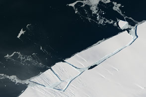 "Glacial ""Aftershock"" Spawns Antarctic Iceberg"