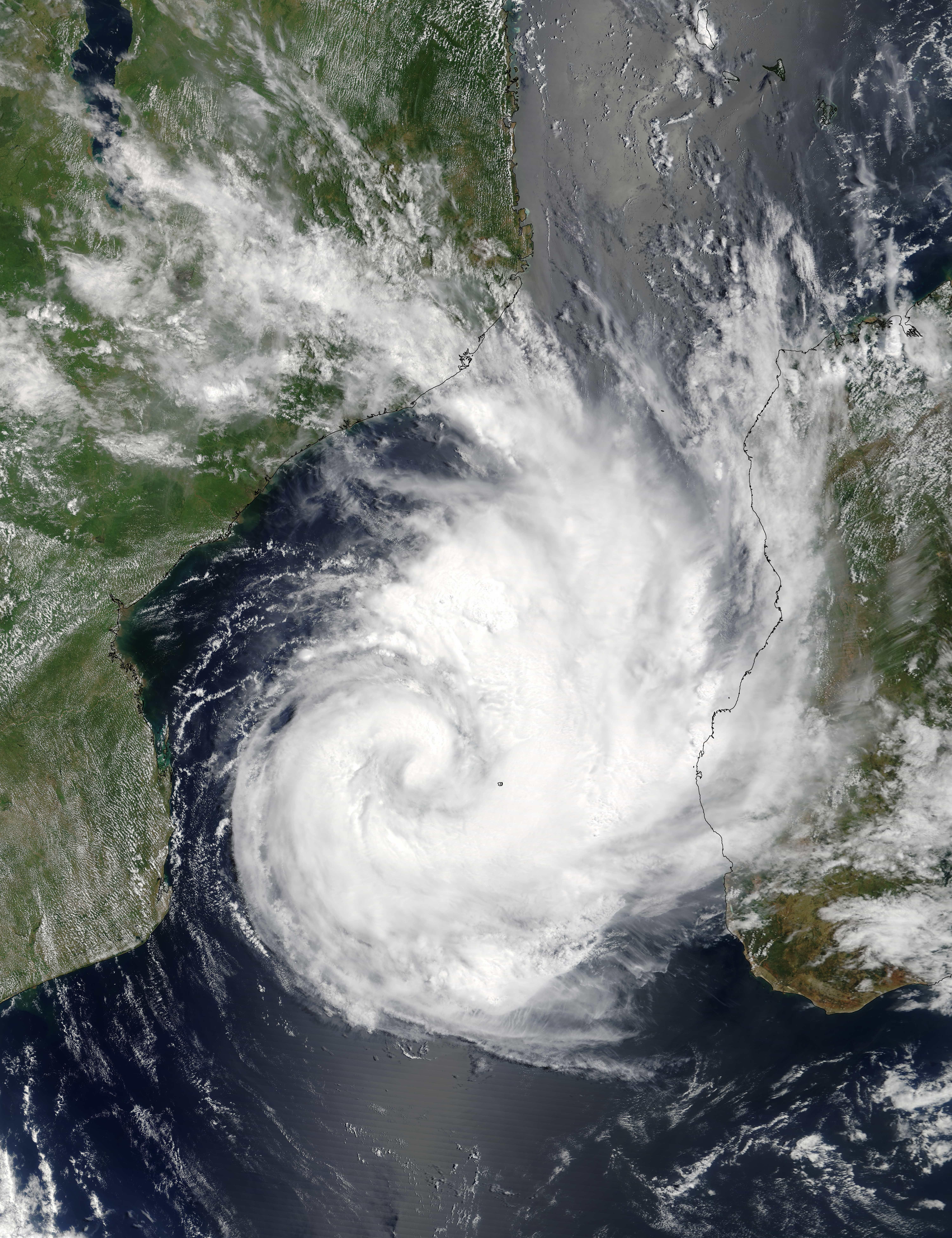 Tropical Cyclone Dineo : Natural Hazards