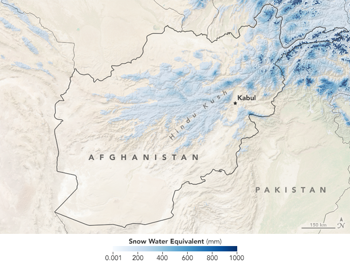 Widespread Snowfall in Afghanistan