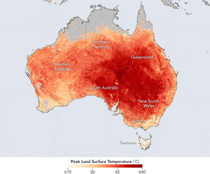 Heat Wave Breaks Records in Australia