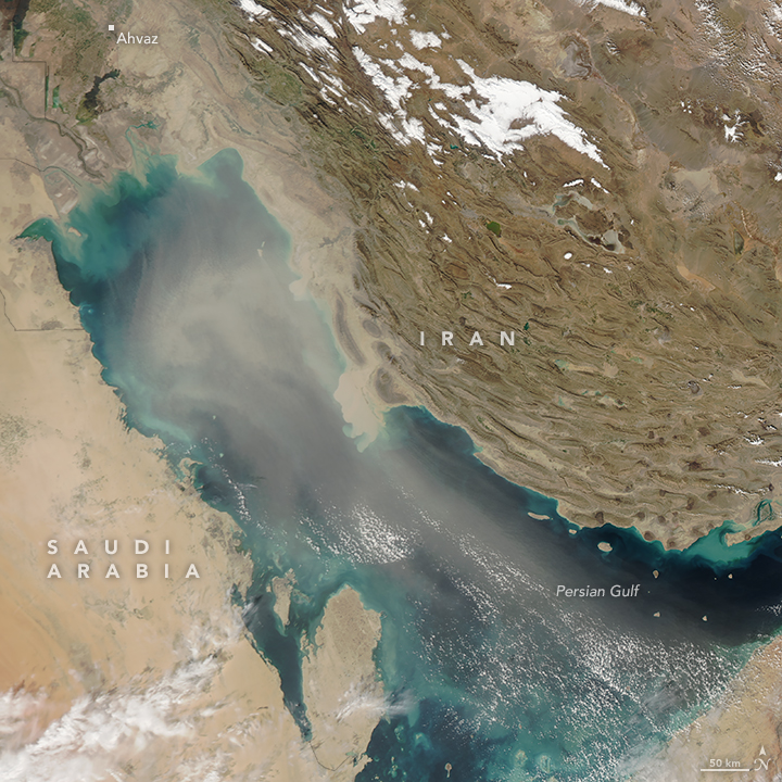 Dust Over the Persian Gulf