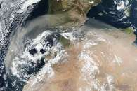 Dust Storm Over North Africa