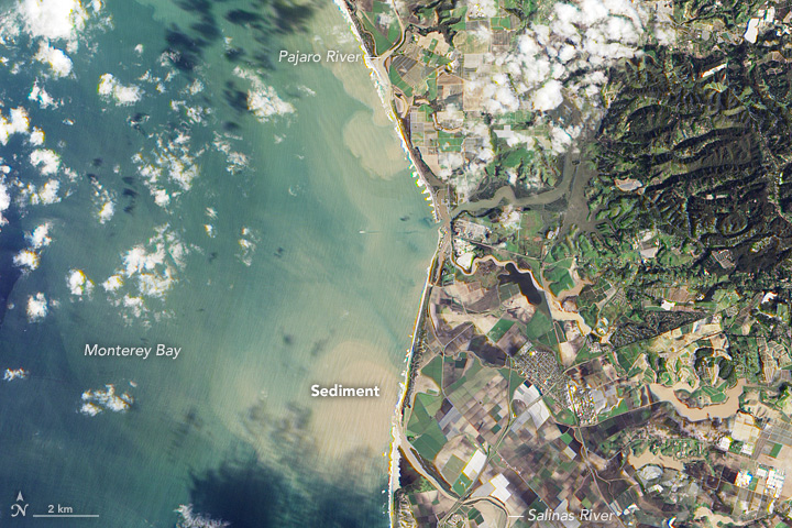 Sediment Pours into Monterey Bay
