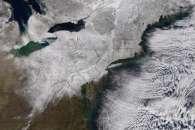 Snow Blankets Northeastern U.S.