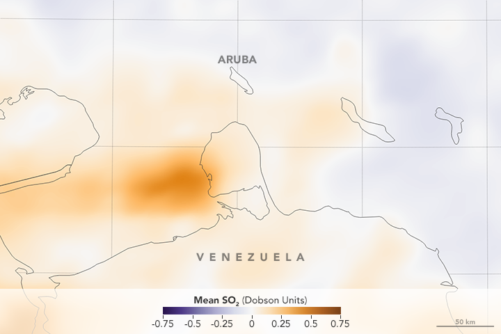 The Rise and Fall of SO<sub>2</sub> Over Aruba - related image preview