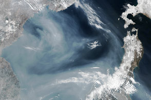 Gray Plume Over the Sea of Japan