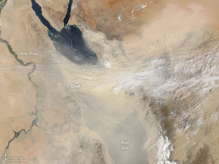 Dust Obscures the Red Sea