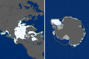 Polar Sea Ice at Record Lows