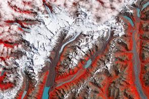 Tasman Glacier Retreats
