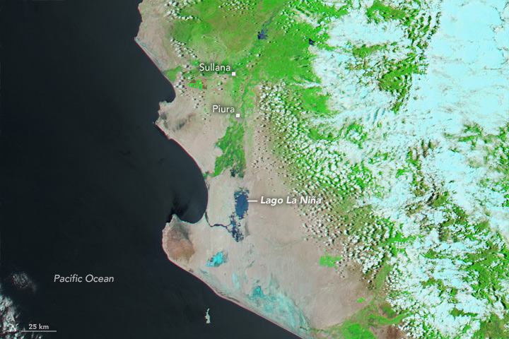 Flood Waters Inundate Coastal Peru