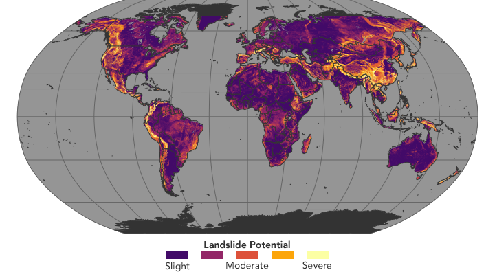 A global view of landslide susceptibility image of the day a global view of landslide susceptibility gumiabroncs Image collections