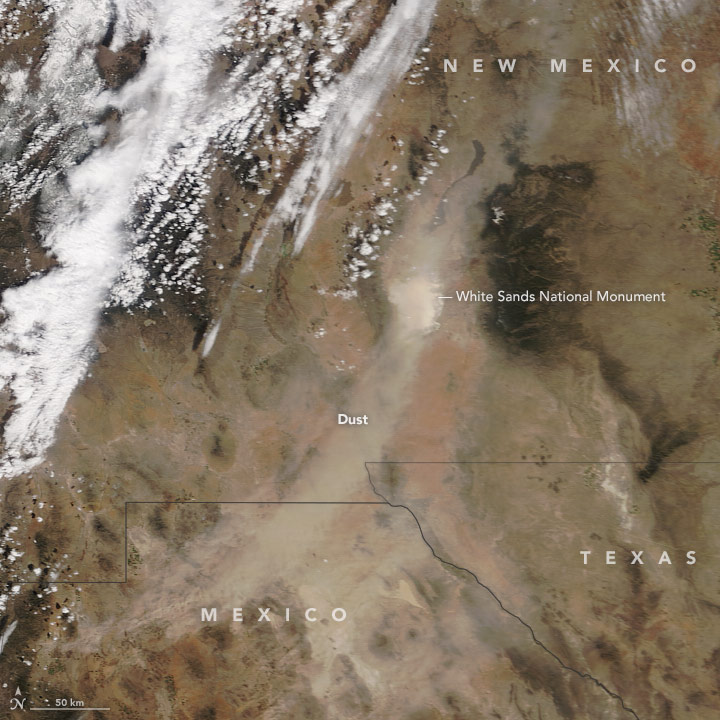 Dust in the American Southwest