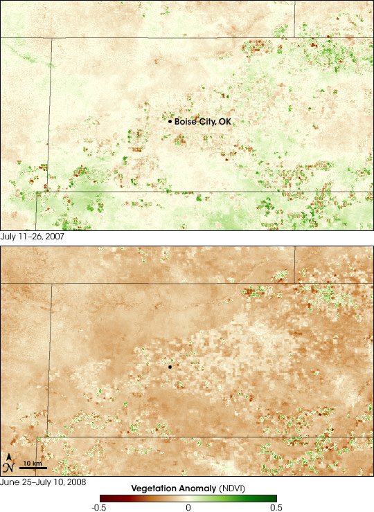 Drought Devastates Vegetation in Oklahoma Panhandle