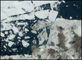 Retreat of Serson Ice Shelf
