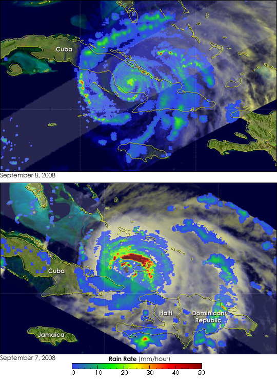 Hurricane Ike Weakens over Cuba