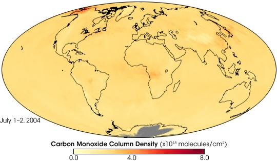 Carbon Monoxide from Alaska Fires