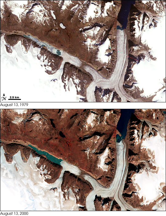 Penny Ice Cap in 1979 and 2000  - related image preview