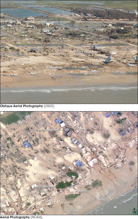 Hurricane Damage on the Bolivar Peninsula