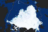 Arctic Sea Ice Reaches Annual Minimum