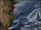 Severe Bush Fires Near Sydney, Australia