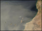 Dust Storm Hits Canary Islands