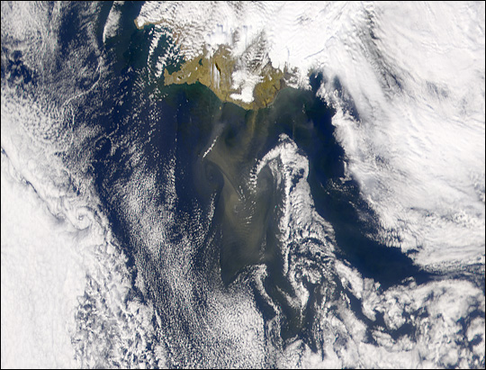 Dust Storm Off Southern Coast of Iceland - related image preview