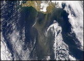 Dust Storm Off Southern Coast of Iceland