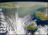 Massive Dust Plume Emanates from China - selected image