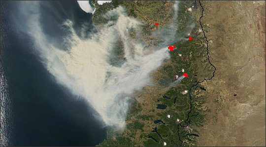 Wildfires in Chile
