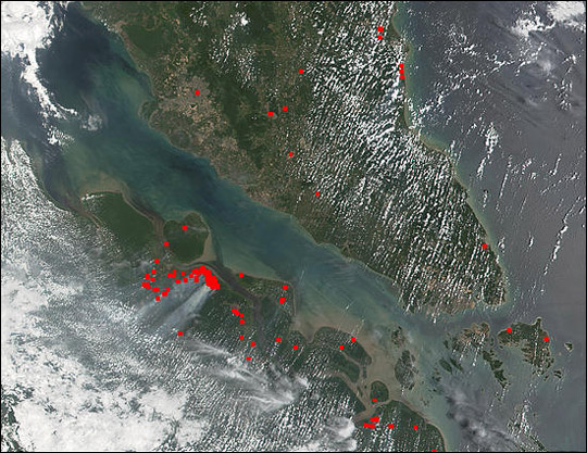 Fires and Heavy Smoke in Sumatra