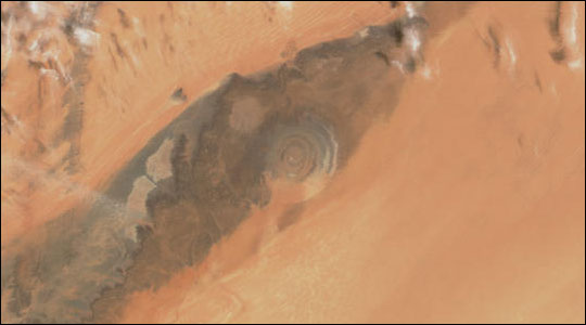 """Bull's Eye"" — The Richat Structure, Mauritania"