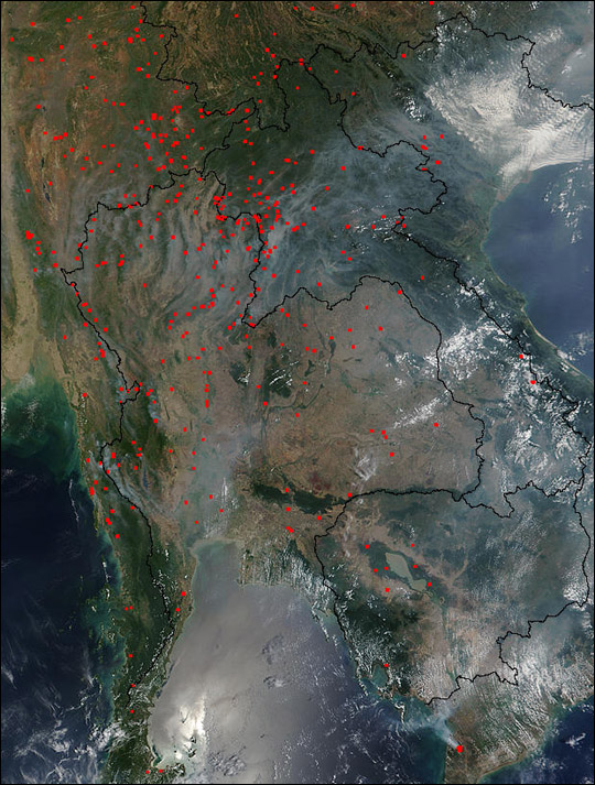 Fires and Smoke in Thailand