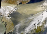 Dust Cloud over Sea of Japan