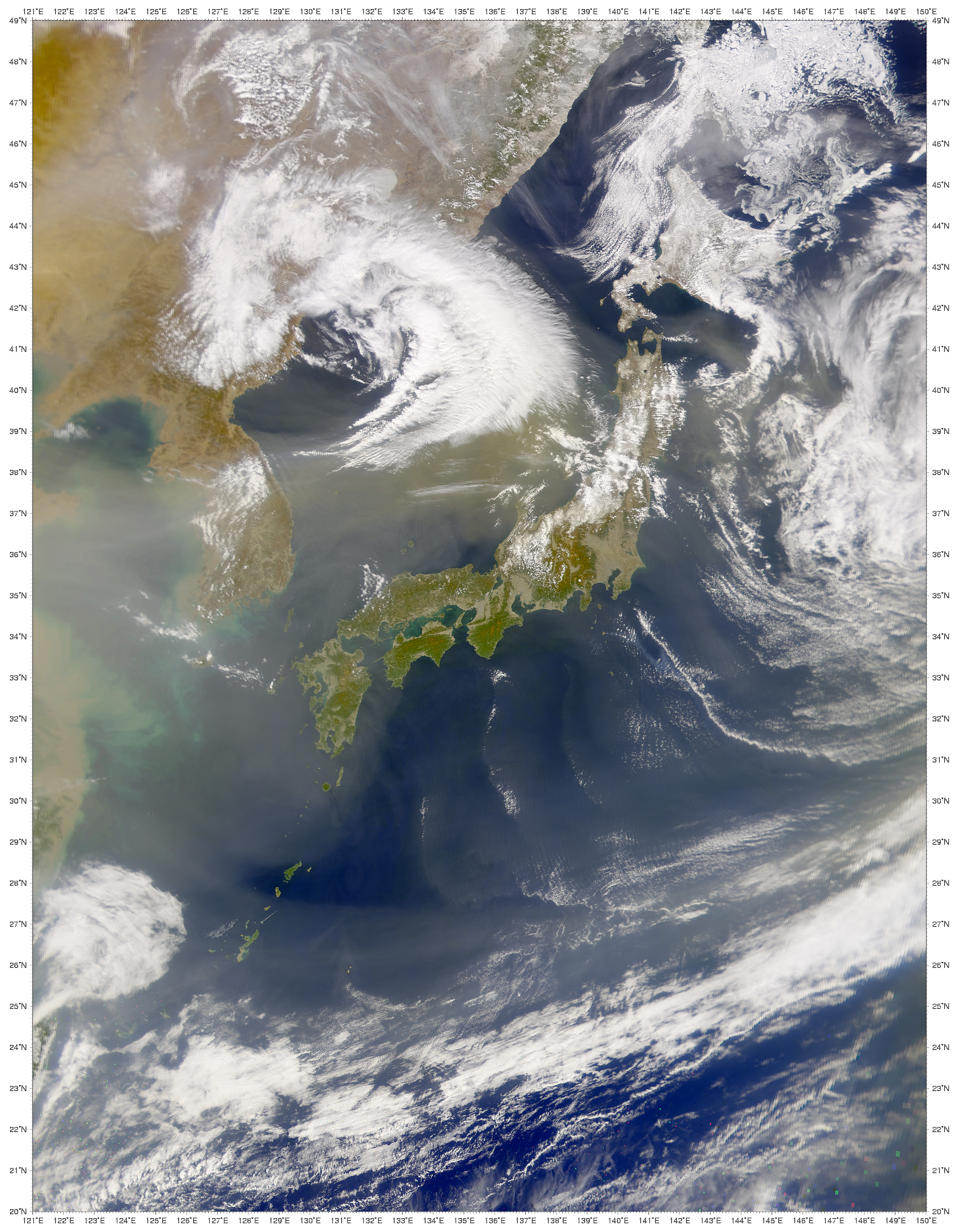 Dust Cloud over Sea of Japan - related image preview