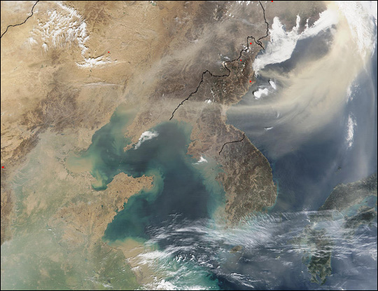 Dust Cloud over Sea of Japan