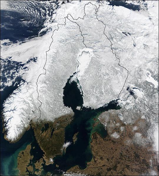 Snow Cover Across Scandinavia
