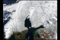Snow Cover Across Scandinavia