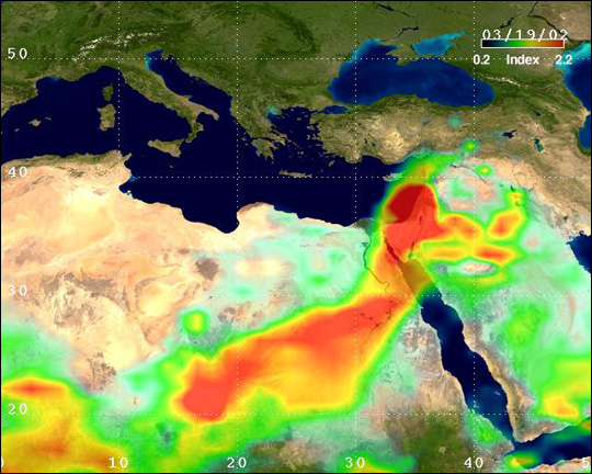 Dust Over East Africa and Israel - related image preview
