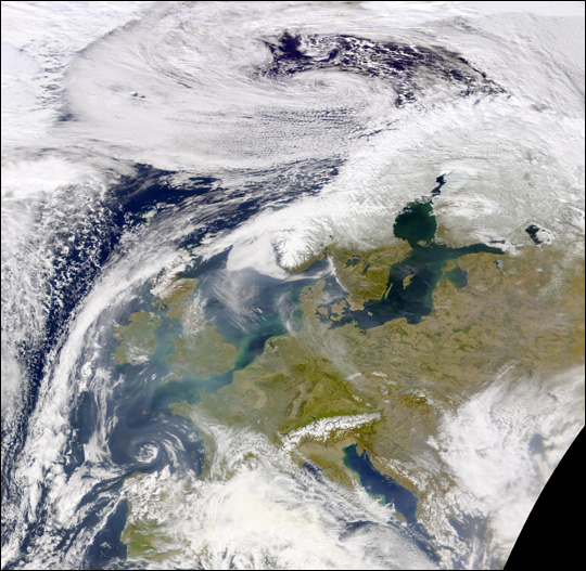 Haze and Pollution over Western Europe - related image preview