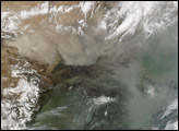 Dust and Pollution over China