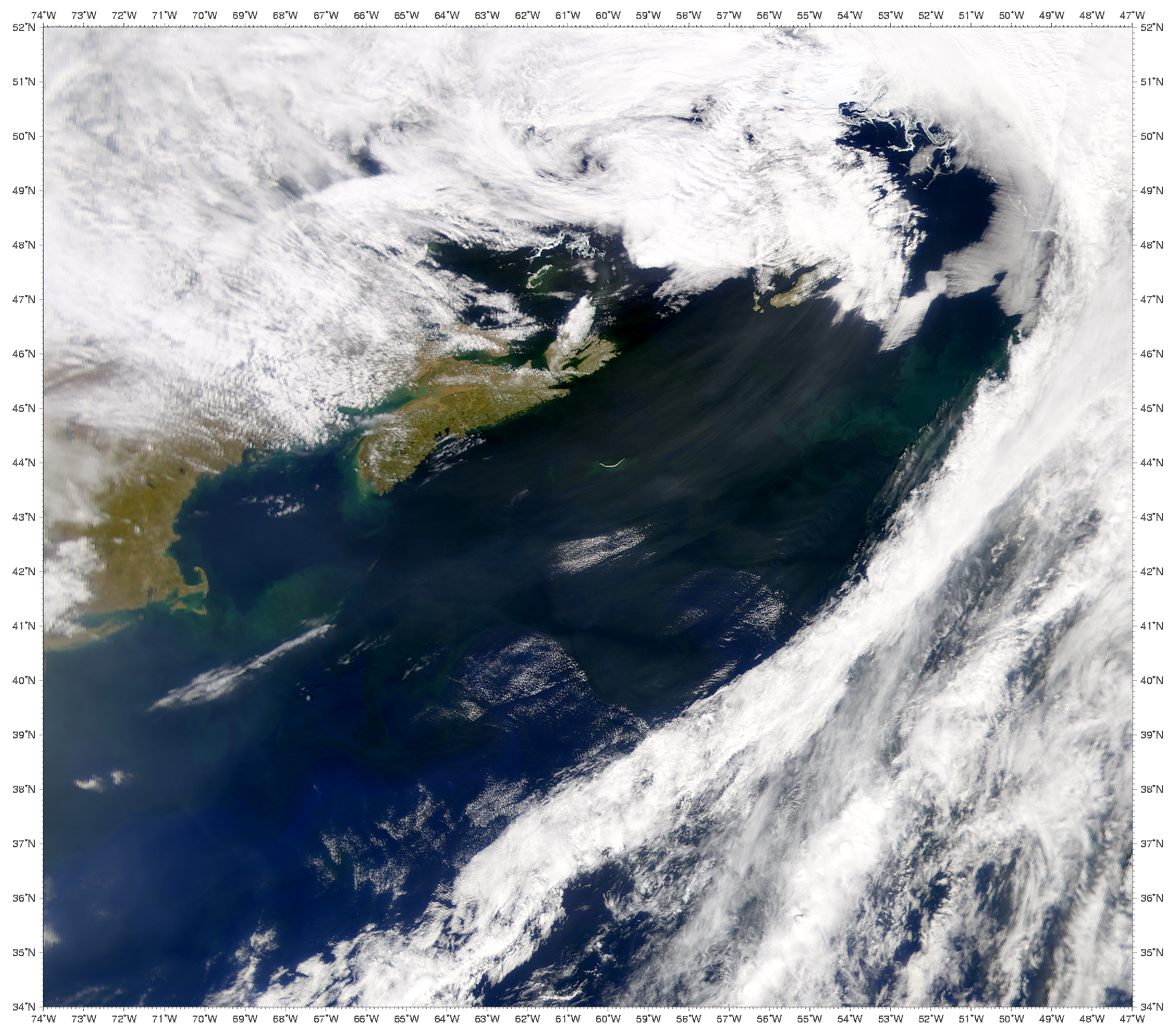 Dust over North Atlantic Ocean - related image preview