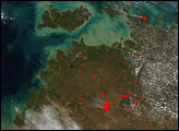Wildfires in Northern Australia - selected image
