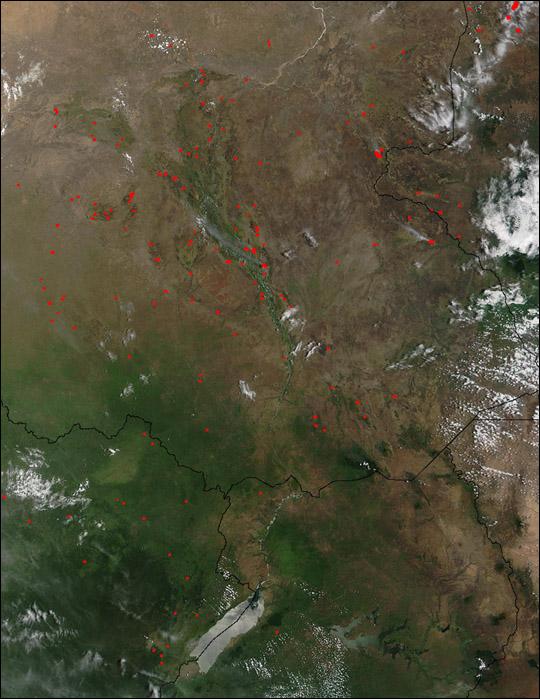 Biomass Burning in Sudan