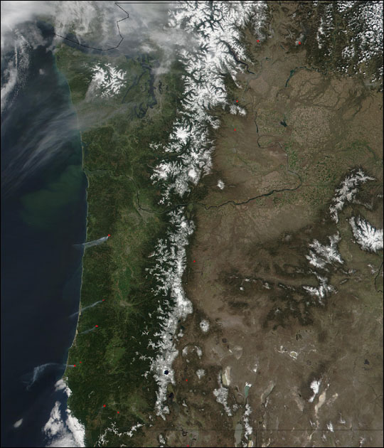 Fires in Pacific Northwest