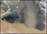 Dust Storm over Libya