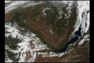 Fires Near Lake Baikal, Russia