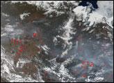 Fires in Southeastern Russia