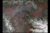 Scores of Wildfires in Russia's Krasnoyarsk Region