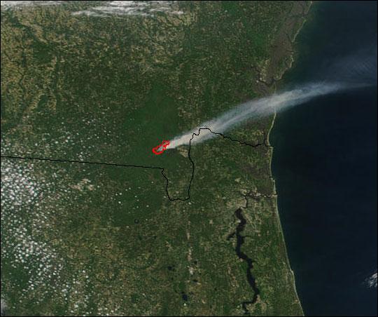 Blackjack Bay Fire in Okefenokee Refuge